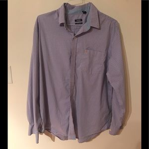 XL IZOD Blue / Pink Pattern Button Down